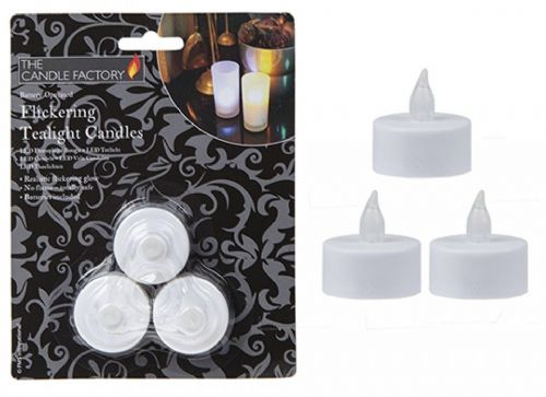 3pc Flickering Tealight Candle gift